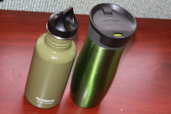 Coffee Thermos and Water Bottle